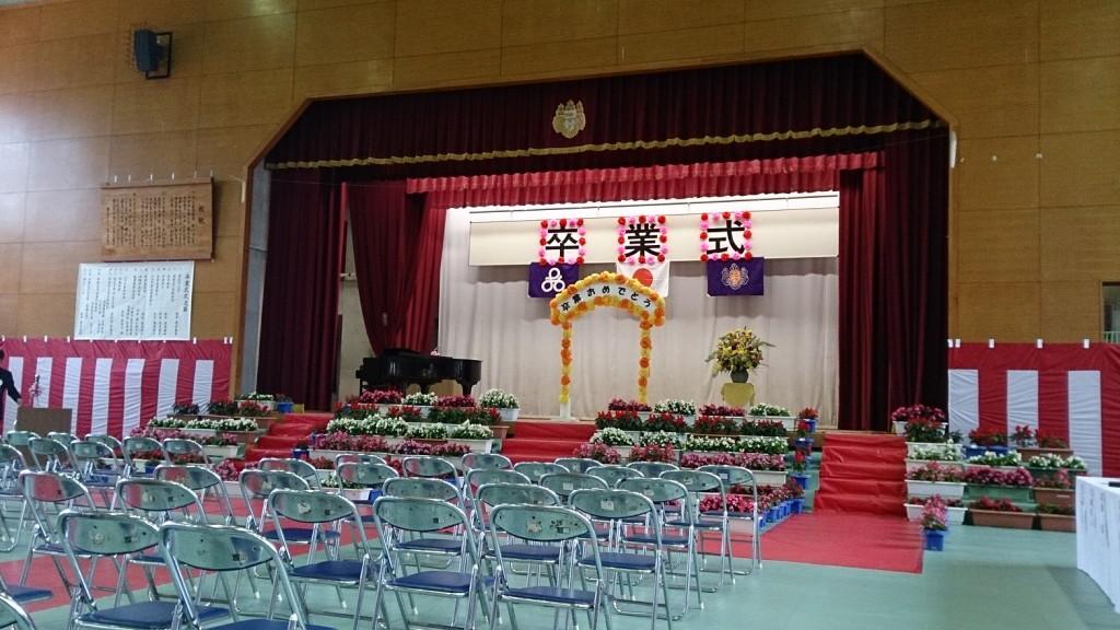 卒業式会場