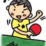 卓球部の息子、1年生の仲間の指導に夢中~♪