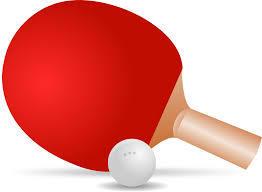 卓球ラケットとボール、画像